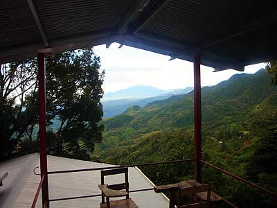 Aussicht von unserem Hostel aus