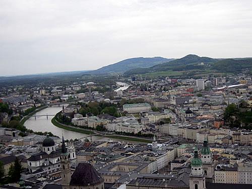 Blick auf die Stadt von der Festung Hohensalzburg